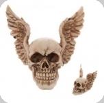 Crâne tête de mort ailes d'anges