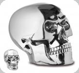 Crâne tête de mort Argent chromé