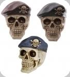Crâne tête de mort BERET COMMANDO Bleu Marron ou Noir