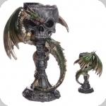 Chandelier  Crane et Dragon vert  de 23 cm