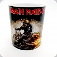 Mug Iron Maiden en ghost rider