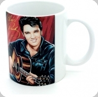 Mug Elvis Presley dessiné