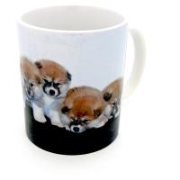 Mug  « Portée d'Akita Inu  »