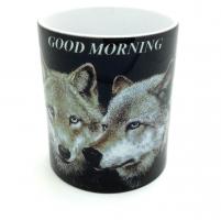 Mug  couple de Loup  Good morning