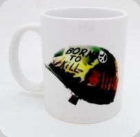 Mug Casque Born To Kill
