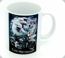 Mug « Aigle  Loup Live The Legend »