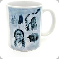 Mug « Siting Bull en Noir et Blanc »