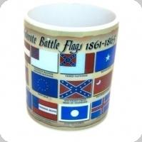 Mug   Battle Flags Confédérat