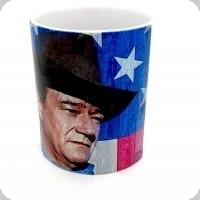 Mug « John Wayne sur Drapeaux Américain »