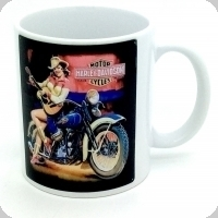 Mug Cow Girl sur Harley Davidson