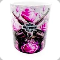 Mug Harley Davidson et Roses