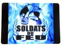 Tapis de souris   « Casque Flamme Bleu »