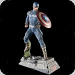 Statue Captain America Taille 63 cm  Statuette Marvel Comics