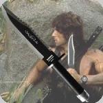 COUTEAU de Survie Rambow II  avec étui Cuir