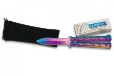 Couteau papillon RAINBOW de 16 cm