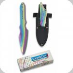 couteaux de lancer anodisé titan 16 cm