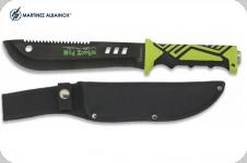 Couteau Mad Zombie de 32 cm   Lame droite  avec étui en nylon