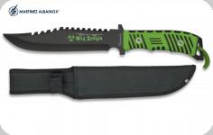 Couteau mad zombie  de 20.2 cm   avec Etui tout Cuir