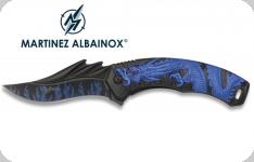 Couteau Pliant DRAGON Bleu  Lame de 9 cm