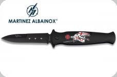 Couteau Pliant Templier Noir   Lame de 9.2 cm