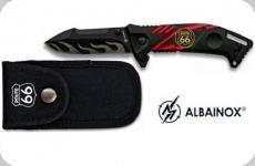 Couteau Pliant route 66 avec étui   Lame de 8.5 cm