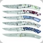 Couteaux Pliant Claude Dozorme  lot de 5 sur présentoire