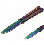 Couteau papillon  RAINBOW de 22.5 cm