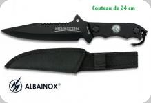 Couteau Tactique HORIZON Noir 24 cm