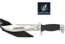 Couteau Tactical    Chrome et Noir  Mod. COMMANDER