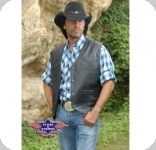 Gilet Western en cuir Jason