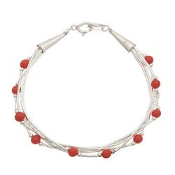 Bracelet 5 Fils Perles de Corail