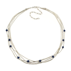 Collier 5 Fils Perles de Lapis Lazuli