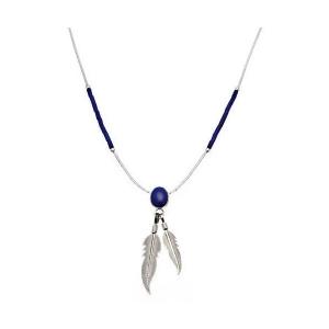 Collier Plumes Cabochon Lapis-Lazuli