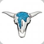 Pendentif Tête de Vache Argent et Turquoise