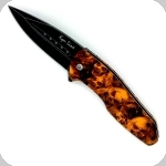 Couteau Pliant ZOMBIE Orange  Lame de 08 cm