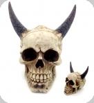 Crâne tête de mort diable