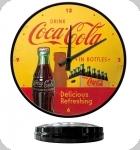 Horloge Vintage Coca Cola  Jaune et rouge de 31 cm