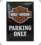 Plaque métal publicitaire vintage  Harley parking only de 60 x 40 XL