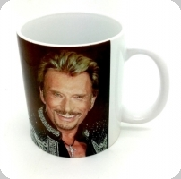 Mug Johnny Hallyday  Souriant