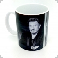 Mug Johnny Halliday  en appuit