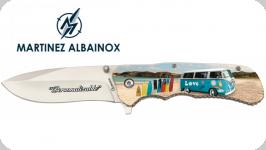 Couteau Pliant Peace & love 3D