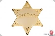 Etoile de shériff Gold 6 pointes