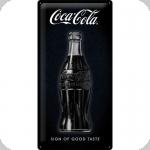 Plaque métal  vintage COCA COLA noir  de 50 x 25 XL
