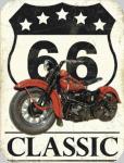 Plaque métal vintage Route 66 Classic  de 40 x 30