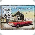 Plaque métal vintage Route 66  The Mother Road de 40 x 30