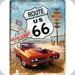 Plaque métal vintage Route 66  Main Street de 40 x 30   it