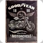 Plaque métal vintage Good Year 1898 de 40 x 30