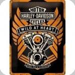 Plaque métal vintage  HD Wild At Heart  de 40 x 30