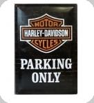 Plaque métal publicitaire vintage  Harley parking only de 40 x 30