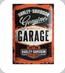 Plaque métal vintage Harley Davidson Garage  de 40 x 30 XL